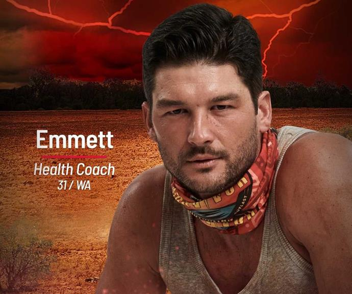 **Emmett** <br><br> Emmett is a health coach also joining the Brawn tribe, where his reputation as an Ironman and CrossFit fanatic will help him get ahead.