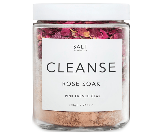 """**SALT BY HENDRIX Rose Cleanse ($29.95) ** <br><br> Nothing is more soothing in winter than a long, hot bath - why not add this soothing rose soak to the mix? Formulated with pink and white French clay, the soak is designed to detoxify and cleanse your body. Did we mention it also has real rose petals in it? [Shop it here.](https://fave.co/3yPlhBW