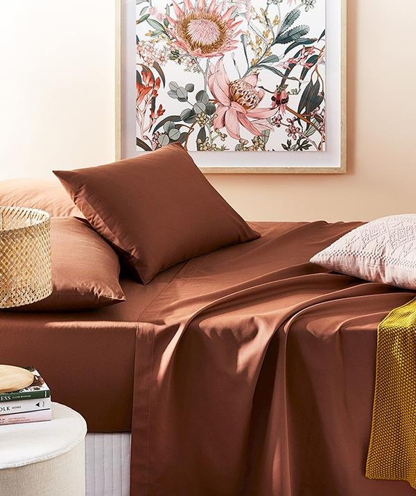 """**Home Republic Bamboo Cotton Sheet Set (from $202 on sale)** <br><br> If you're going to be spending more time in your bed, you may as well spend it in comfort. Adairs have an insane range of luxurious sheet sets that will make you feel like you're sleeping in a hotel bed every night, including this bamboo set in a trendy russet hue. [Shop it in a range of colours here.](https://fave.co/3CJmRr3