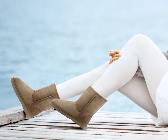 """**Outback Ugg Boots Short Classic (from $69 on sale)** <br><br>  If you don't already own a pair of Uggs, now's the time to fix that. They'll keep your feet warm in the biting winter mornings and they're on sale at Kogan.com. And seriously - who doesn't love a pair of classic Uggs? [Shop them here.](https://fave.co/3AEE96Z