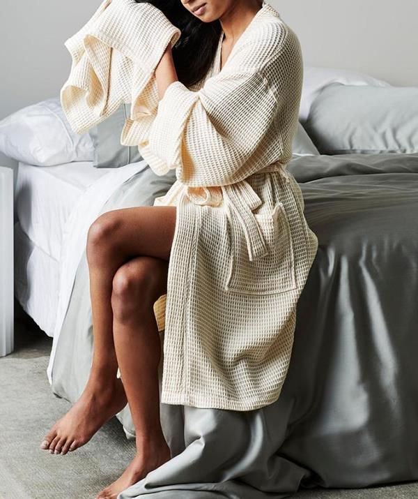 """**ettitude Bamboo Waffle Bathrobe ($130)** <br><br> Most people only wear plush bathrobes like this at hotels, but we're giving you permission to invest in one for your home too. There's something about slipping into a waffle robe like this after your bath or shower that really does make you feel more relaxed! [Shop it here.](https://fave.co/2VPL6Dv