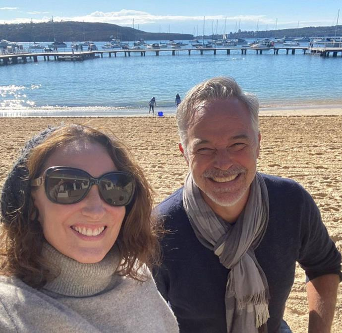 Roo and Owen reunite! The former H&A co-stars enjoyed a brisk swim at Sydney' Balmoral Beach together.