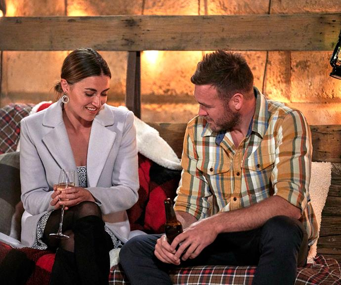 Jess confesses her love to Andrew on her last night on his farm.