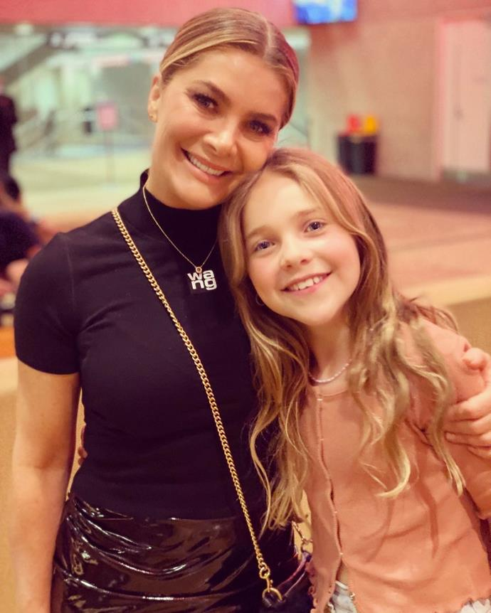 Natalie with her daughter Harper.