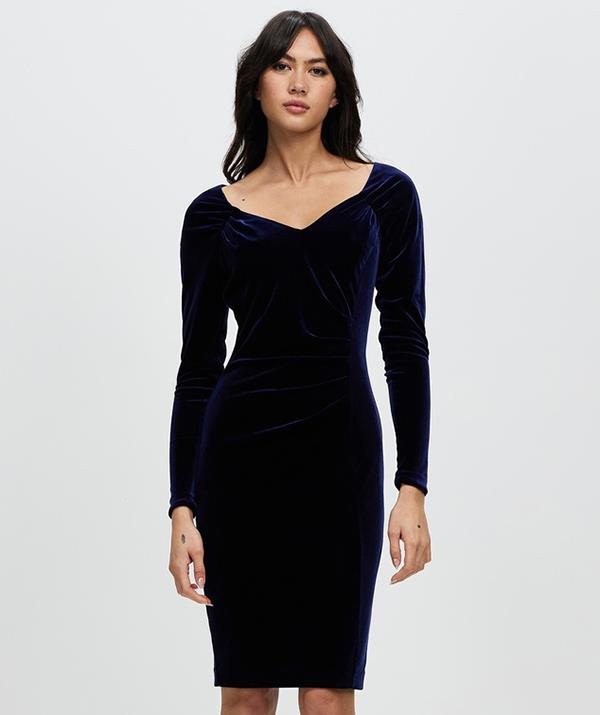 """The Promises Dress by review has that same luxe velvet look. [Shop it here for $279.95.](https://www.theiconic.com.au/promises-dress-1296325.html target=""""_blank"""" rel=""""nofollow"""")"""