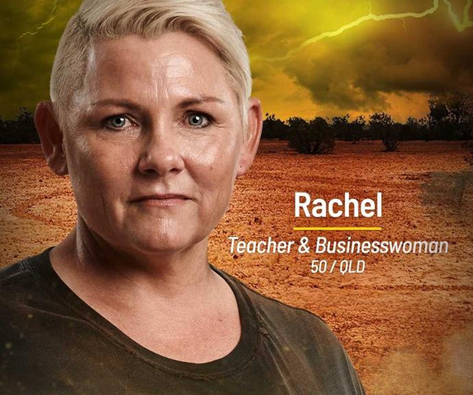 **Rachel** <br><br> Rachel may seem unassuming at first, but don't be fooled into thinking this Brains tribe member isn't a threat. Underestimating her could put the Brawn tribe in a sticky situation.
