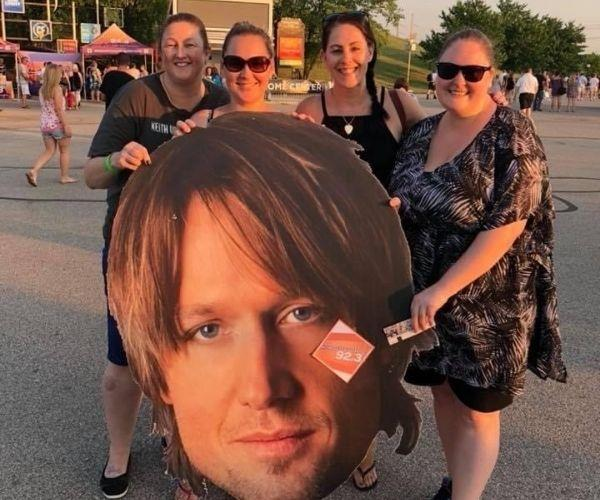 Meeting up with other fans who loved Keith as much as me. (Image: supplied)