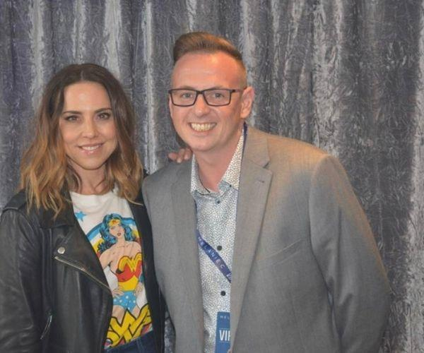 With Sporty Spice (Image: supplied)
