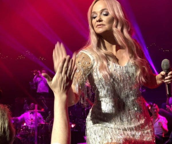 High-fiving Baby Spice (Image: supplied)