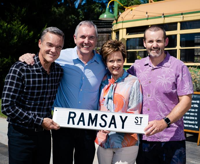 Veteran stars Stefan Dennis, Alan Fletcher, Jackie Woodburne and Ryan Moloney have been on the soap for decades