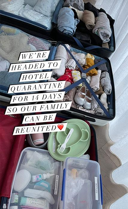 The super-organised mum showed this snap of her family's luggage, complete with labelled cutlery.