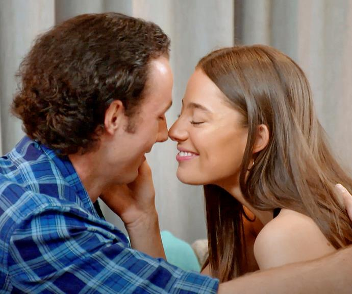 Jess and James shared a sweet kiss on the show.