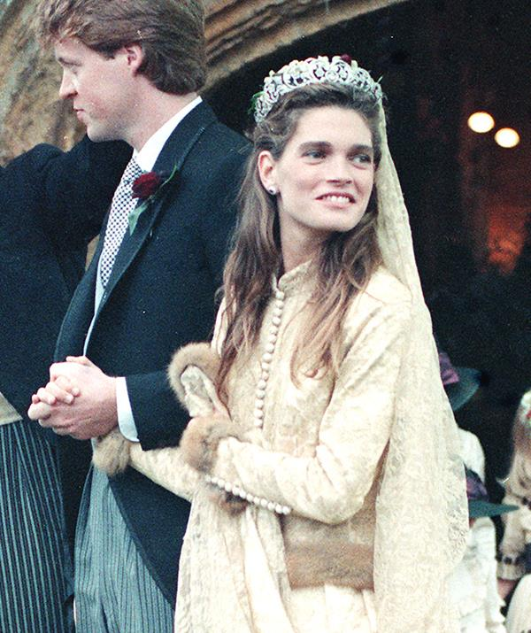 Lady Kitty was also inspired by her mother's lace wedding dress from her 1989 to first husband Charles Spencer.