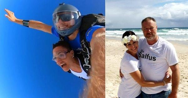 Sky-high love: Meet the couple who jumped out of a plane on their wedding day