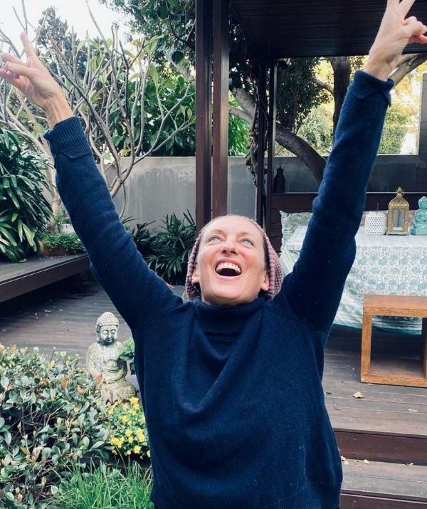 """**Georgie Parker** <br><br> The joy on Georgie Parker's face says it all! The *Home and Away* star celebrated her fully vaccinated status with total glee. She posted a picture of herself smiling at the sky with her arms in the air.  <br><br> Georgie captioned the moment, """"Vaccinated #2 with AstraZeneca 💃🏻 Huge thanks to all the people on the frontline, doing all they can at this unprecedented time to keep us safe. 💜✊🏼"""" <br><br> The actor also took a moment on her Instagram story to thank the incredible frontline workers. She wrote, """"Stoked about being fully vaccinated. Thanks to our frontline workers. You're all bloody champions."""""""