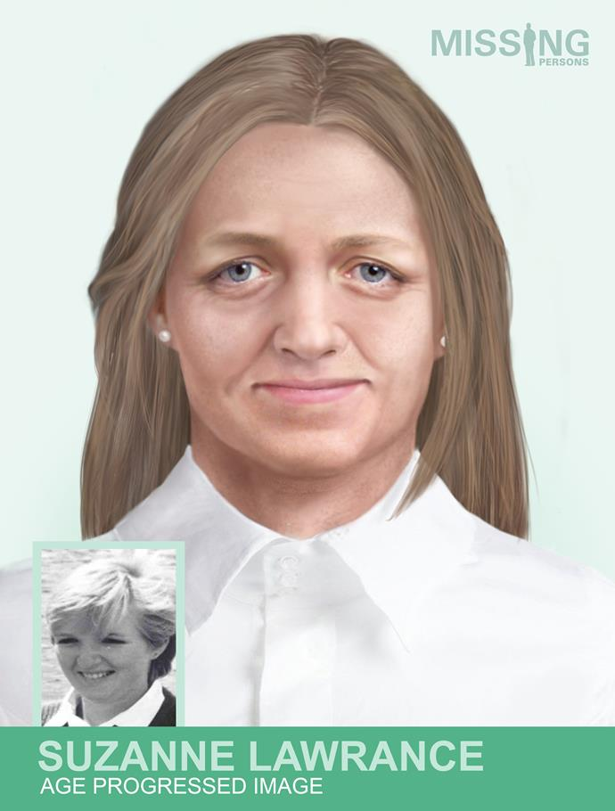 The age progressed image provides a glimpse at what Suzi may look like today