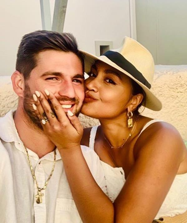 Jess and Themeli got engaged in Greece in 2019.