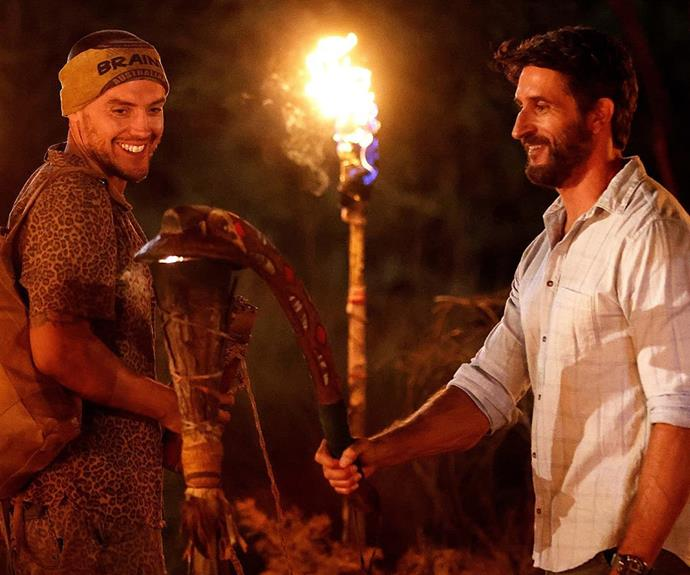 """**Joey, Brain tribe - Episode 7** <br><br> Joey was sent packing in the biggest blindside of the season, after Hayley secretly convinced the majority of the Brains tribe to vote against him at a nail-biting tribal council. <br><br> The bold player never saw it coming and took to social media after his elimination aired to write: """"Hayles, you played me like a banjo tonight and executed that blindside perfectly, well played legend!"""""""
