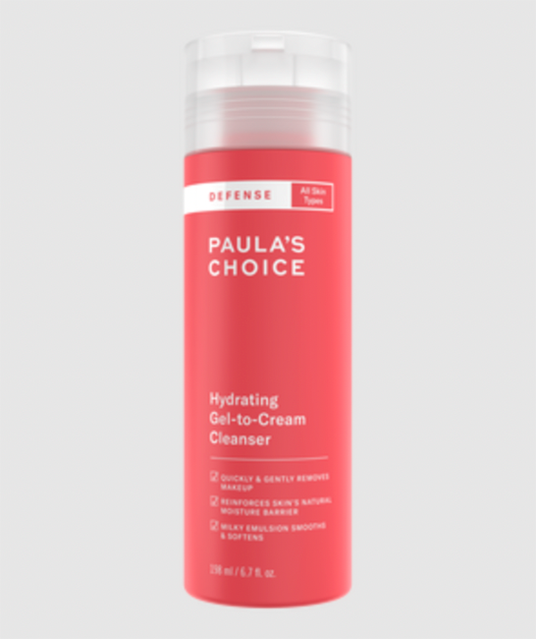 """Hydrating Gel-to-Cream Cleanser ($24 on sale from $30), [shop it here.](https://fave.co/3jWNHUm