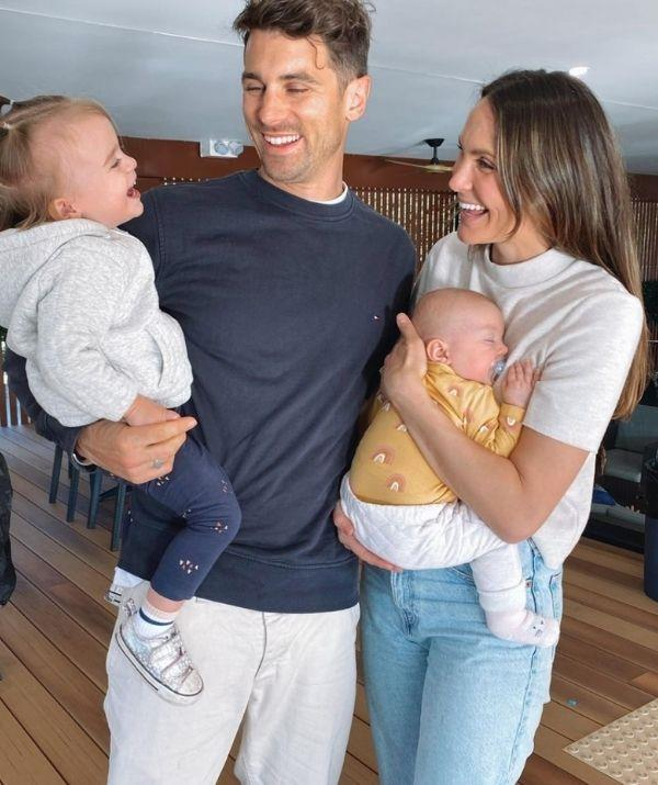 Laura, Matt J and their two daughters Marie-Mae (left) and Lola (right).