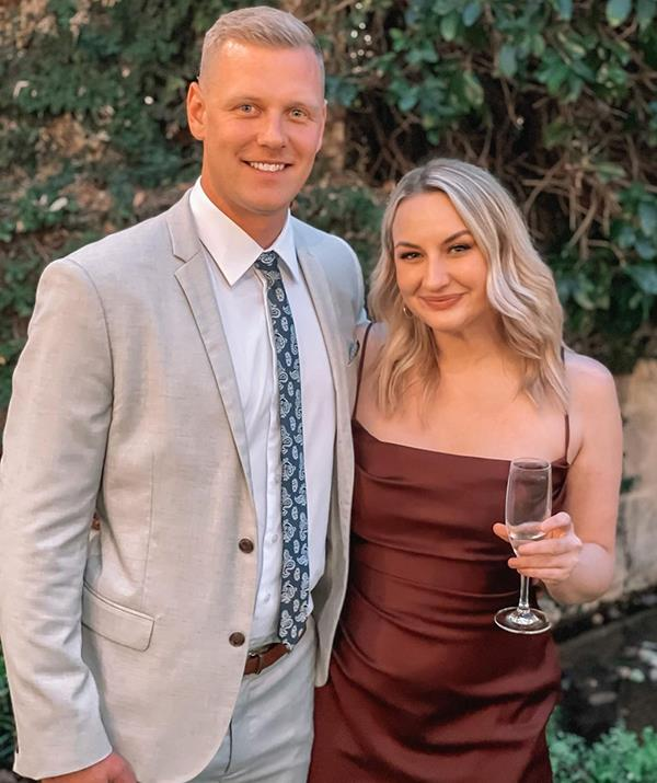Most Aussies know Alisha, pictured here with her partner Glenn Smith, best for her time on *The Bachelor*.