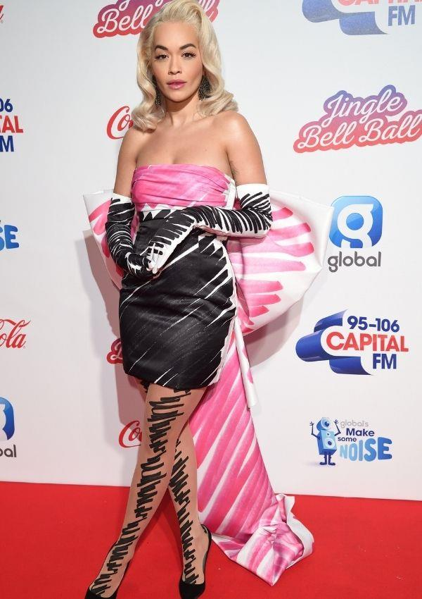 **Capital FM Jingle Bell Ball, 2018** <br><br> The singer wore this intriguing art-pop number for the ball, and she looked absolutely smouldering as she stood out from the crowd.