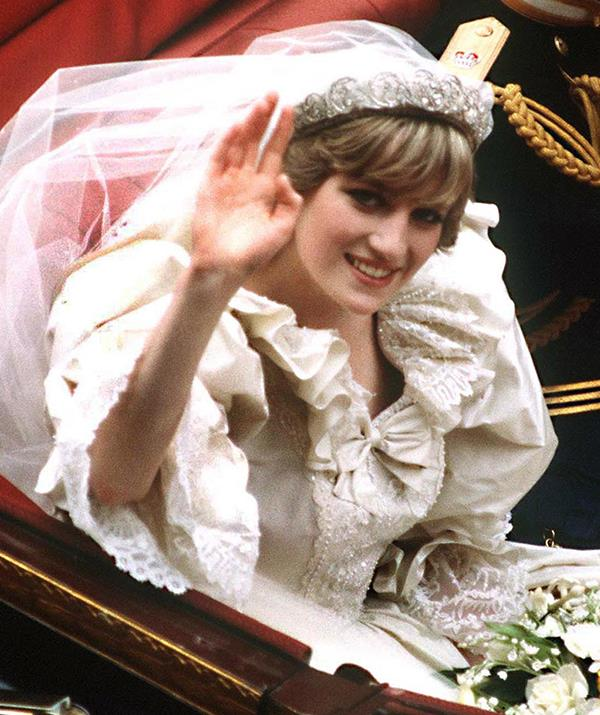 **Princess Diana - Spencer tiara** <br><br> Princess Diana bucked tradition on her wedding day - July 29, 1981 - when she opted not to wear a tiara borrowed from Her Majesty, the Queen. Instead, Diana chose to wear the Spencer Tiara, a family heirloom that has remained in the Spencer family even after the Princess of Wales' tragic death.