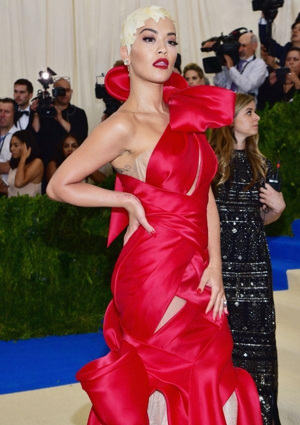 **Met Gala, 2017** <br><br> Perhaps one of her most stunning looks, Rita wore this Marchesa gown to the 2017 Met Gala.