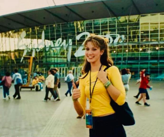 """**Delta Goodrem** <br><br> The Aussie songstress shared [this sweet throwback from the 2000 Sydney Olympics](https://www.nowtolove.com.au/celebrity/celeb-news/delta-goodrem-olympic-throwback-68511