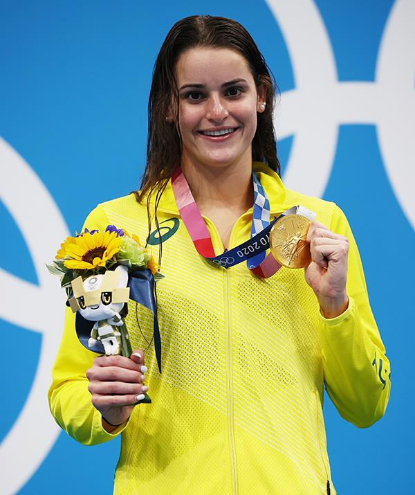 **Kaylee McKeown**  <br><br> The swimming gun won gold in the women's 100m backstroke, the 200m backstroke and the 4x100m medley relay.