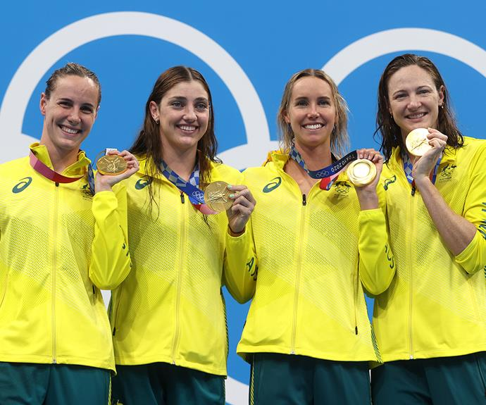 **Women's Medley Relay team** <br><br> The incredible relay team, including Kaylee McKeown, Chelsea Hodges, Emma McKeon and Cate Campbell, won gold in the  Women's 4 x 100m Medley Relay.