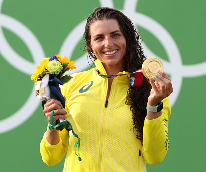 **Jessica Fox** <br><br> Jessica won her first gold medal in the women's canoe, canoe slalom.
