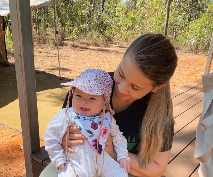 """In another recent snap Bindi gushed about taking some time off with her baby girl and husband Chandler. Sharing a photo of herself holding a grinning Grace, Bindi wrote: """"Spending time away from the world on our conservation property with my sweet girl and husband."""""""