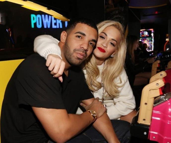 **Drake 2012** <br><br> In 2012 Rita and Drake teamed up for a track named *RIP* and rumours swirled the pair were hooking up.  However, nothing was officially confirmed and they remain friends.
