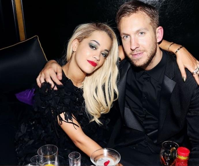 """**Calvin Harris 2013-14** <br><br> Well, this one sure got messy! Rita Ora and Calvin Harris struck up a romance in 2013, only for it to all come crashing down the following year. <br><br> The problem? Rita reportedly was blindsided and only discovered the split when Calvin Tweeted about it. <br><br> """"To address speculation — myself and Rita ended our relationship some time ago,"""" Calvin wrote in a since-deleted Tweet. """"She is a beautiful, talented woman & I wish her all the best."""" <br><br> Ouch!"""