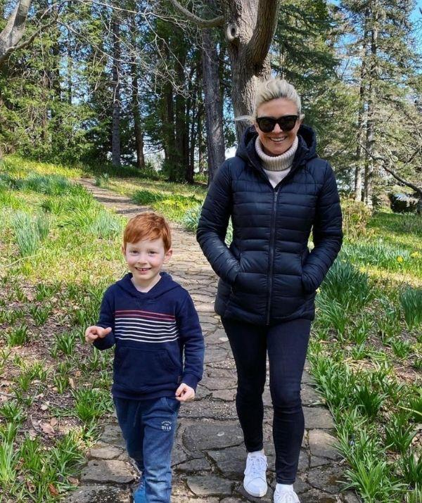 Em and Henry on a peaceful walk in Sydney's Blue Mountains.