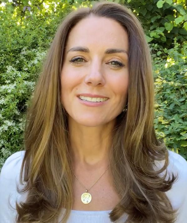 Kate Middleton in her custom pendant.