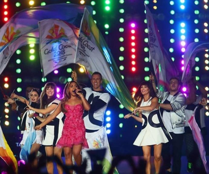 Jess at the Glasgow CommonWealth games.