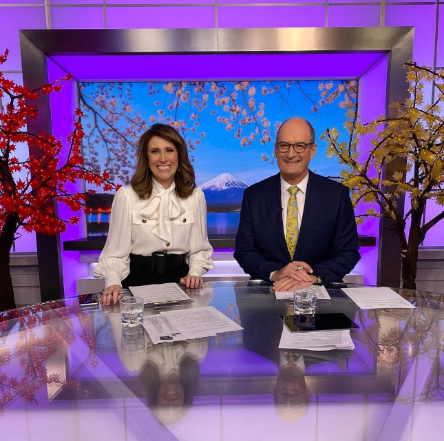 With co-host Kochie, whose outfits are quite plain!
