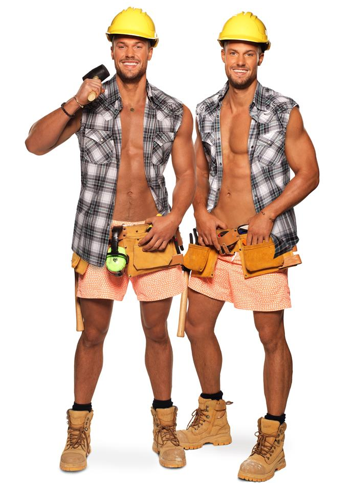 """**Josh and Luke, 27**   ***Twins from Sydney, NSW***   The stars of *Love Island* in 2019 (which Josh won), the brothers are out to kick-start their futures and show there's a lot more to them than just tanning by the pool.  <br><br> """"This is a massive opportunity for us,"""" Luke (above right) says. """"It's going to be tough and challenging, but we're so excited."""""""