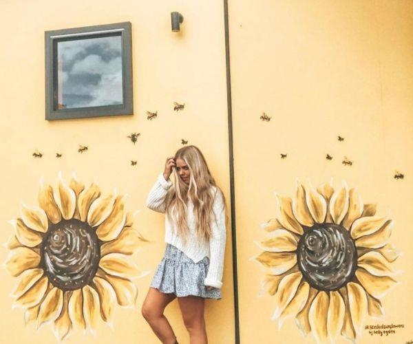 I love painting sunflowers (Image: supplied)