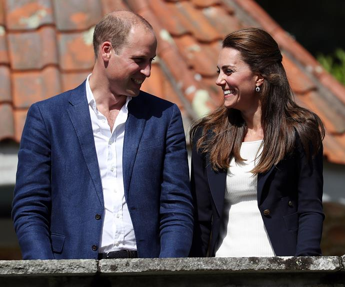 Kate and William during a visit to the island of Tresco in 2016.