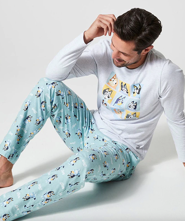 """**[Bluey Pyjama Set](https://www.target.com.au/p/bluey-mens-flannelette-pyjama-set/64764795