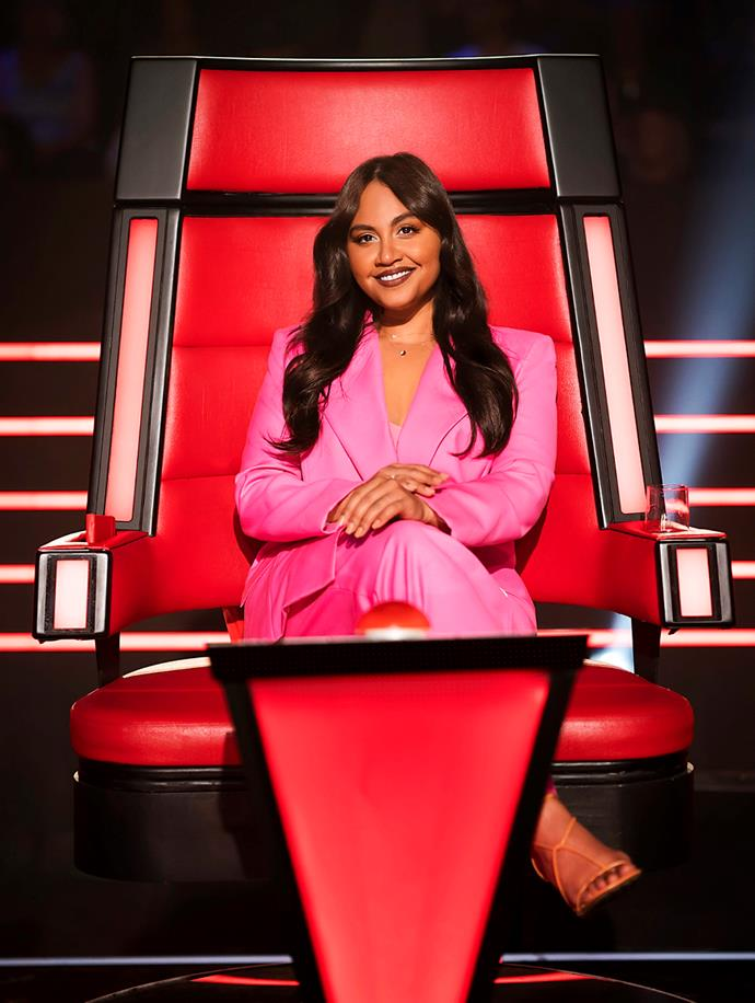 Jess in her role as coach on Australia's hit TV show *The Voice*