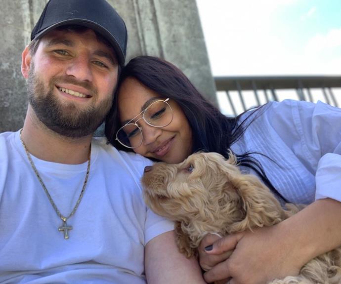 Jessica Mauboy with her fiancé, Themeli 'Them' Magripilis.