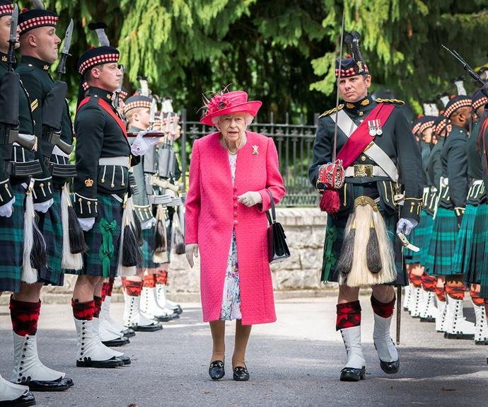 Her Majesty was welcomed with a small ceremony.