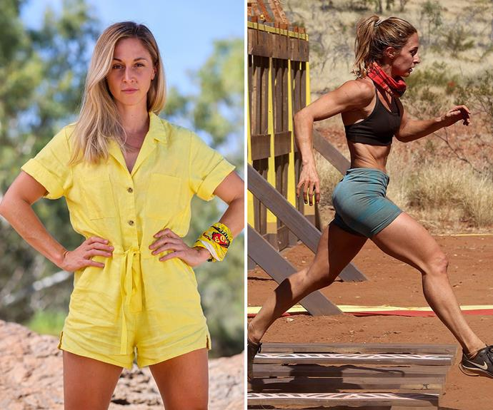 **Hayley** <br> Hayley's frame seems to be growing smaller by the minute on *Survivor*, but that hasn't stopped her from dominating some challenges.