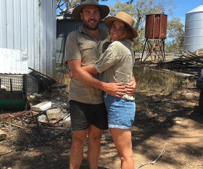 Jess shares a loved-up snap with her man.