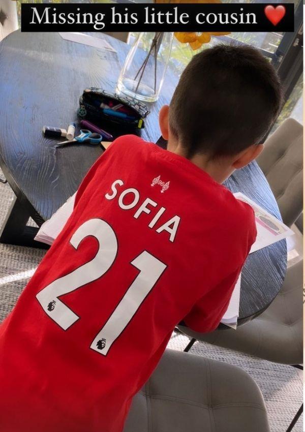 He's Sofia's number one fan.