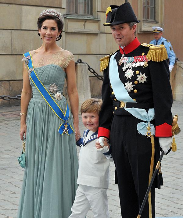 Frederik and Mary clearly shared a special bond with their eldest son from his youngest years.